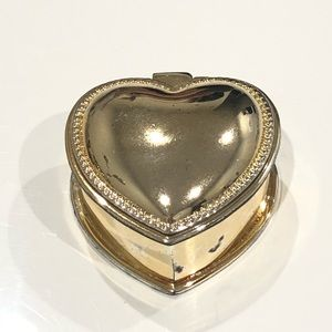 Vintage Silver Heart Candle Box